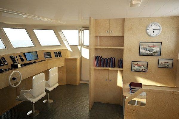 Barco para acuicultura de aluminio