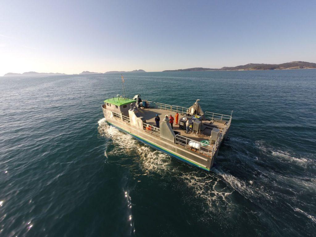 Catamarán de aluminio para pesca