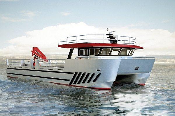 Aluminium fish-farming boat