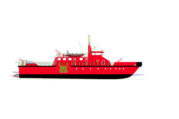 Aluminium fireboat
