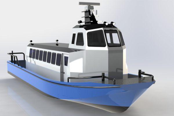 Aluminium passenger boat 12 m lenght