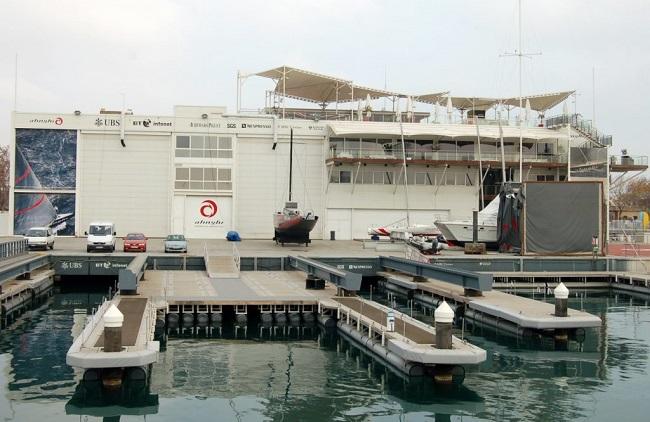 Aluminium docks for team Alinghi in America's Cup 2007