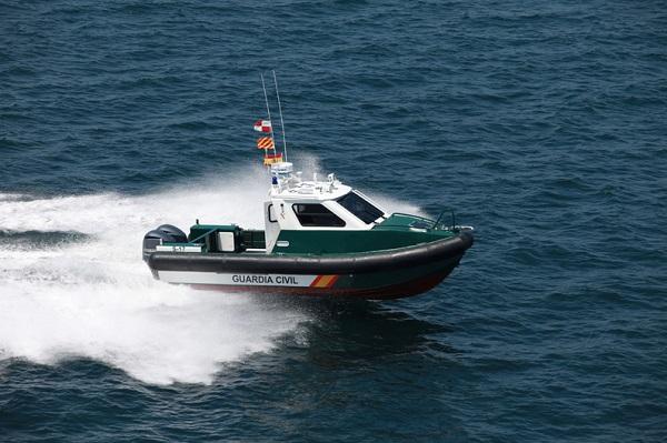 Aluminium patrol boat outboard engines