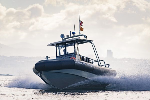 Outboard surveillance boat