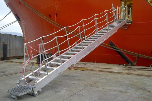 Aluminium accommodation ladder