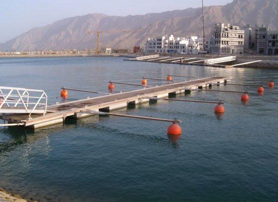 Aluminium dock Sifah Marina