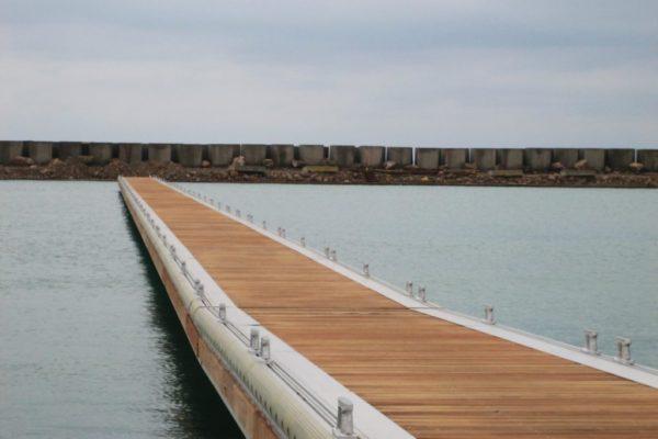 Aluminium fixed dock