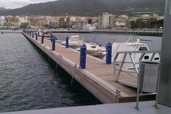 Aluminium fixed pontoon