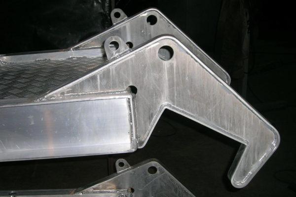 Aluminium gangway detail