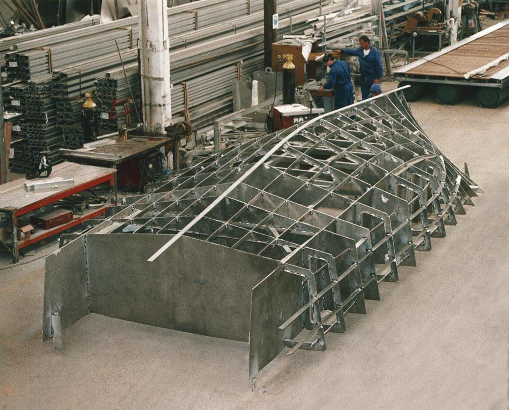 Astillero de barcos de aluminio