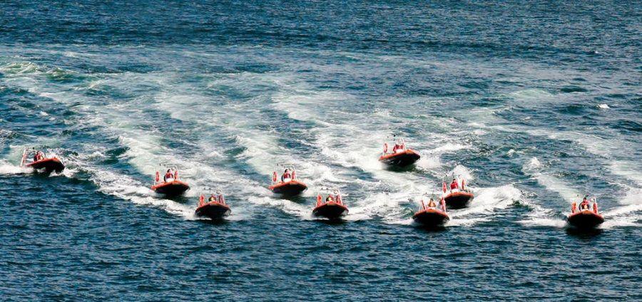 Barco de aluminio para salvamento y rescate