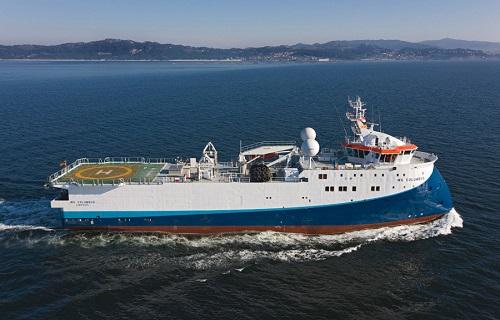 Suministro naval en buque sísmico WG AMUNDSEN