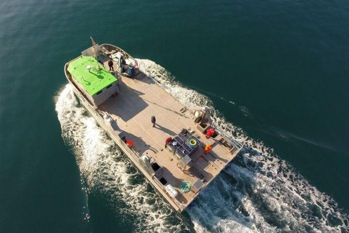 Catamarán de aluminio BIOATLANTIS