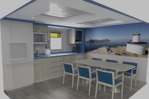 Diseño de interiores: Comedor de oficiales