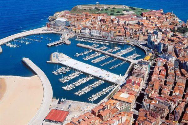 Marina flotante de Gijón