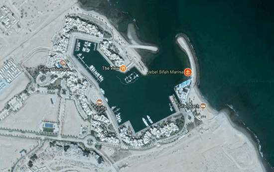 Vista satélite Sifah Marina