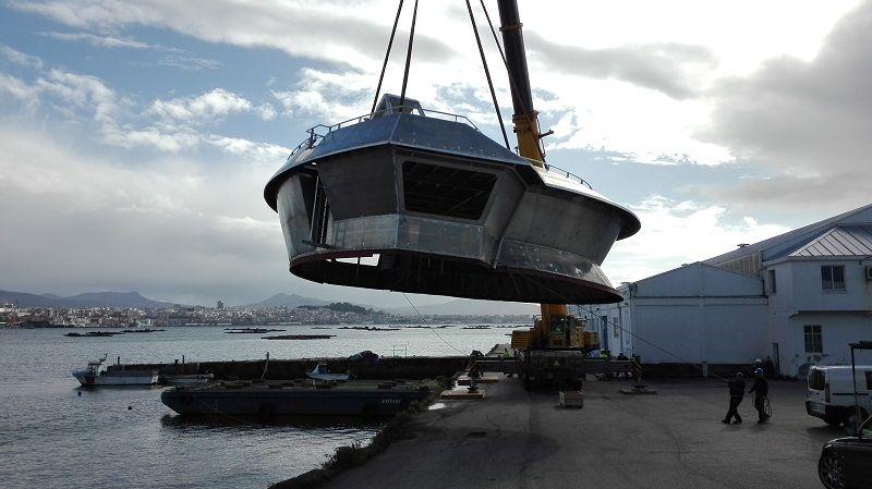 Superestructuras de aluminio para buques de grandes esloras