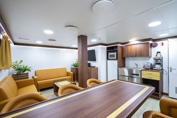 Marine interiors in all types of vessels