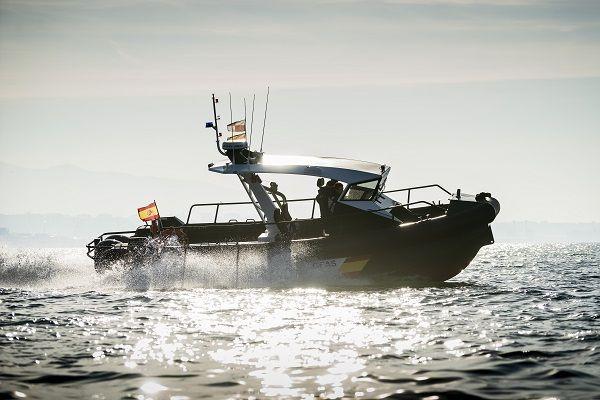 Aluminium surveillance boat