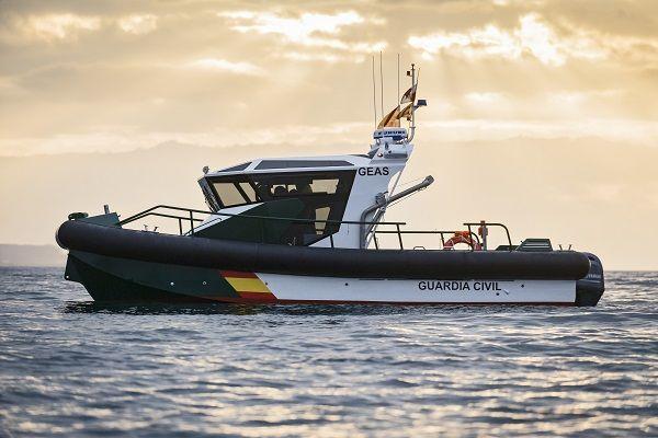 Barco de vigilancia de aluminio fueraborda