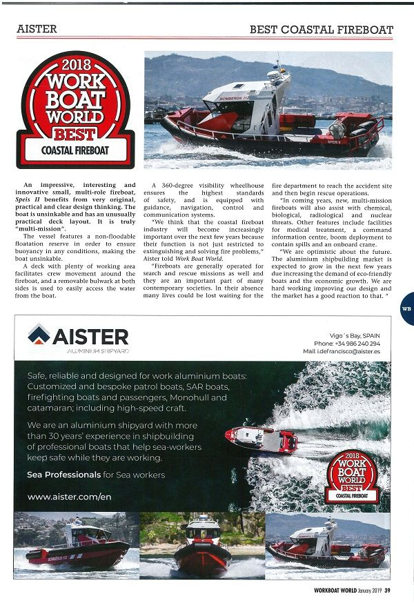 Coastal Fireboat Award