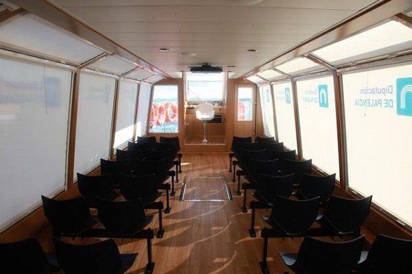 Barco turístico de aluminio