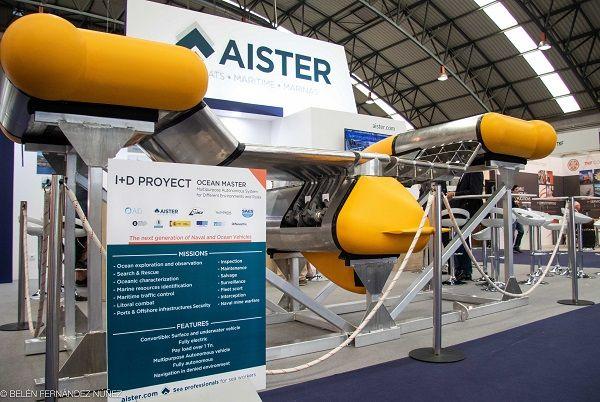 Dron Ocean Master expuesto en el stand