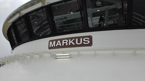 Superestructura de aluminio en el buque MARKUS