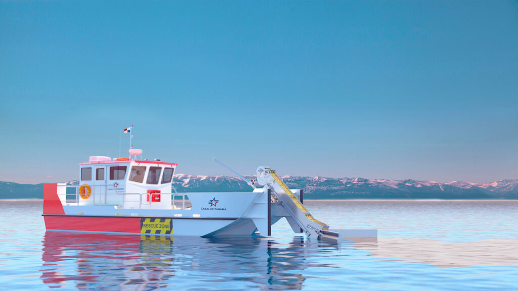 Render Oil Spill response vessel Render